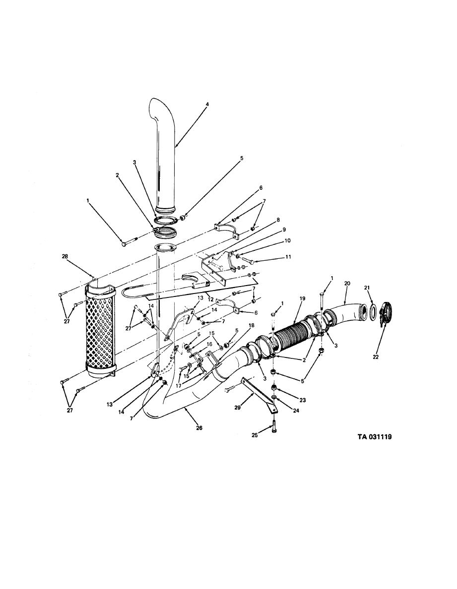 Figure 47 Engine Exhaust Pipes And Stack Pipe Mounting Clean Air Diagram