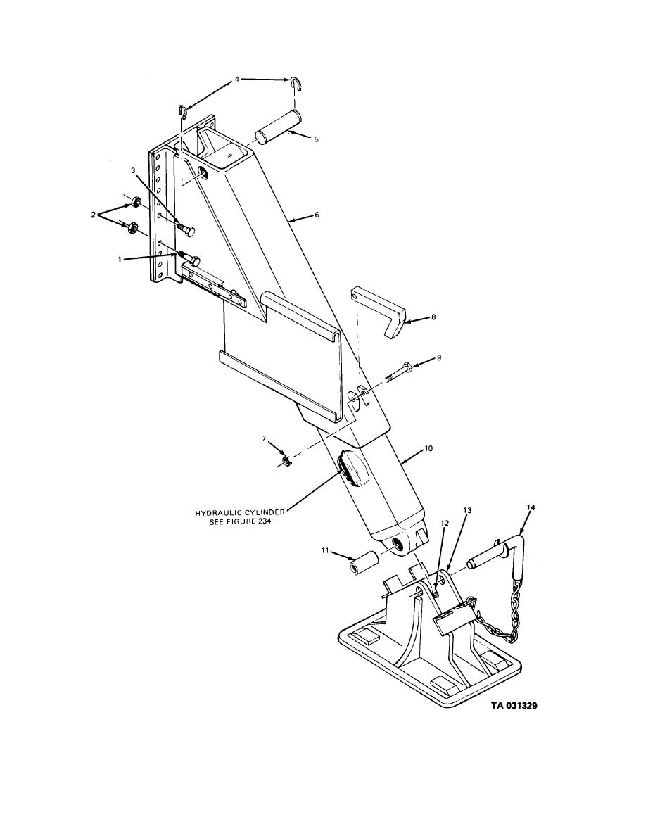figure 233  outrigger leg assembly  m764 truck